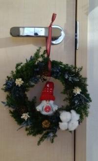 生徒さん作品☆クリスマスリース - お花とマインドフルネスな時間 ~花工房GreenBell~