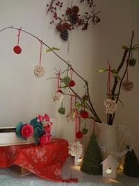クリスマスの飾りつけ - handmade flower maya