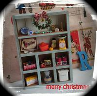 もうすぐクリスマス ミニチュアドールハウス シェルフ 1 - Toko*doll
