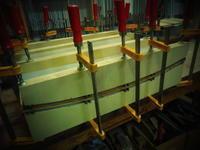 椅子の座面張り下地板。 - 手作り家具工房の記録