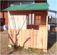 杉板 縦張り -庭小屋- - グラス工房 Grendora  -制作の足跡-