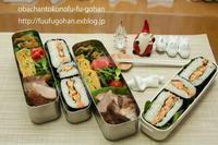 鮭の押し寿司弁当 - おばちゃんとこのフーフー(夫婦)ごはん
