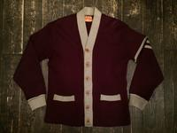 40's 2-tone wool cardigan - BUTTON UP clothing