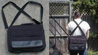 ブロンプトンTバッグをバックパックリュックサックの様に背負う - そのピアス痛くありませんか?