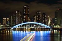 永代橋夜景 - 日々平々凡々