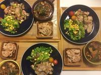 三河地鶏ハラミの塩胡椒焼きと蓮根の明太子炒めで家飲みごはん・・・12/24 - vegechi