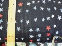Wガーゼ黒地の柄物 - おさや糸店