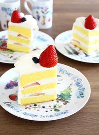 苺のショートケーキ レモンのボストンクリームパイ - ころころまるしぇ