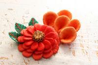 フェルト刺繍作品制作過程~No7 新しいタイプのお花完成~ - ビーズ・フェルト刺繍作家PieniSieniのブログ
