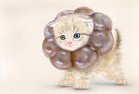 リアリズム絵画:[萌獣] ポンデニャイオン=ショコラ:メイキング - junya.blog(猫×犬)リアリズム絵画