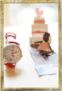 ミニミニカードと、2016年クリスマスケーキ/日向ぼっこをするジョビくん(ジョウビタキ♂) - DOUBLE RAINBOW