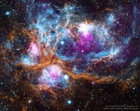 さそり座の美しい散光星雲NGC6357 - 秘密の世界        [The Secret World]