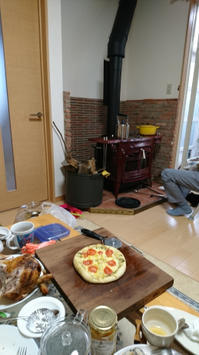 薪ストーブ囲んでギャザリング - 薪ストーブアンコールレッドが我が家にやってきた!