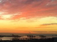 ダイアリー ホテルから見た東京港の朝焼け - 散歩ガイド