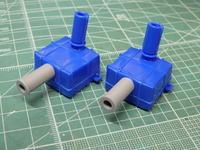 アオシマのDD51 消音器の組み立て - Sirokamo-Industry