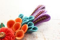 フェルト刺繍作品制作過程~No10 細長いパーツ~ - ビーズ・フェルト刺繍作家PieniSieniのブログ