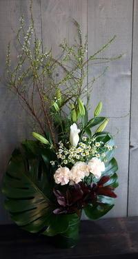 ご自宅での四十九日法要に③。月寒東5条にお届け。 - 札幌 花屋 meLL flowers