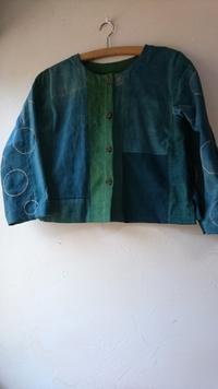 緑藍 接ぎ合わせ ジャケット - 古布や麻の葉