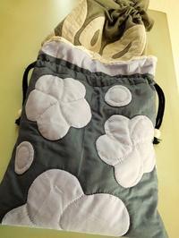 新しい巾着 - eri-quilt日記2