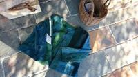 緑藍 接ぎ合わせジャケット 2 - 古布や麻の葉