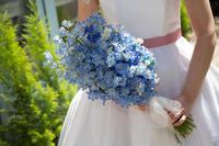 新郎新婦様からのメール ホテルモントレ銀座様の花嫁花婿さまより 花の夫婦2  - 一会 ウエディングの花