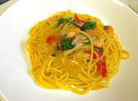 エビとフレッシュトマトの【ビアンコ】スパゲティ - ロックな男のプチ本格料理