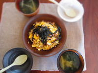 朝ごはんのチャーハン - 恵茶房 meg tea labo