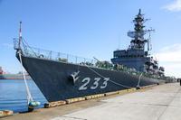 護衛艦ちくまin小名浜港 大剣埠頭 - canon EOS 5D & Vツイン マグナ250