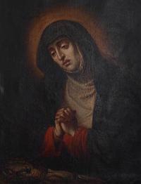 悲しみの聖母 油彩  /229 - Glicinia 古道具店