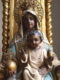 黒いマリアと幼子イエス聖母子像 グラスアイ /139 - Glicinia 古道具店