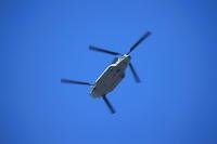 自衛隊のヘリコプター - 平凡な日々の中で