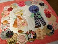 スーちゃんのタペストリー制作 - eri-quilt日記2