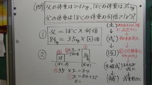 割合の文章題解決方法の変更 - 石原清貴の算数教育ブログ