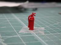 アオシマのDD51 消火器の仕上げ - Sirokamo-Industry