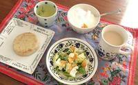 お気に入りの食器 - お弁当と春の空
