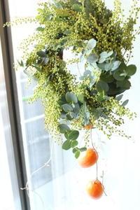 ミモザのリース - 北赤羽花屋ソレイユの日々の花