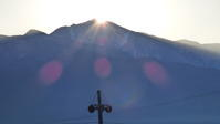 荒島岳の頂から日の出 - 福井山歩会