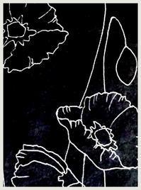 ポピー、描き始めました - 書家KORINの墨遊びな日々ー書いたり描いたり