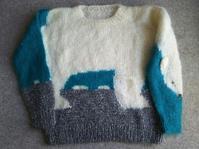 白くまのセーター - うららフェルトライフ
