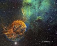 クラゲ星雲と超新星爆発痕IC443 - 秘密の世界        [The Secret World]