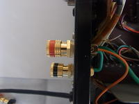 JA-S5 スピーカー端子交換4(スパーカー端子取り付け) - 趣味のオーディオ(作成中)