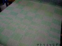 市松マフラー2枚目織り上がり - アトリエひなぎく 手織り日記