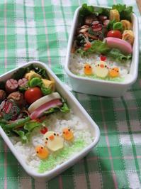 ニワトリ親子のお弁当♪ - さくらんぼべんとっ!