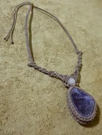 【マクラメ&ヘンプ】#98 アメジストのネックレス - Shop Gramali Rabiya   (SGR)