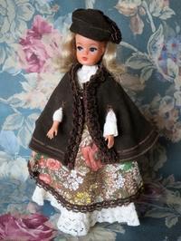 人形用ビンテージの茶色い外套 -  Der Liebling ~蚤の市フリークの雑貨手帖2冊目~