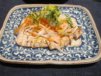 鶏胸肉のグリル 余ったお節の材料を使って&豆腐ステーキとろろがけ - やせっぽちソプラノのキッチン2