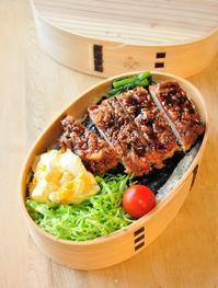 ソースカツ海苔段々弁当 - 家族へ 健康弁当