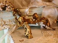 パリの蚤の市から*金色の天使 - BLEU CURACAO FRANCE