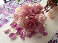 新郎新婦様からのメール 八芳園の花嫁様より、ブーケをほどいて - 一会 ウエディングの花