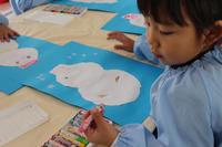 カラフル雪だるま(たんぽぽ) - 慶応幼稚園ブログ【未来の子どもたちへ ~Dream Can Do!Reality Can Do!!~】